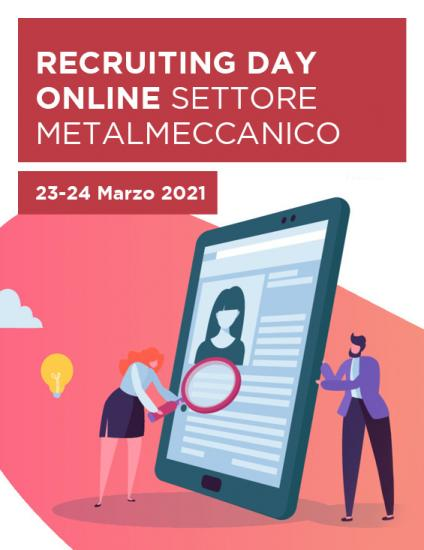 Banner Recruiting Day Online Torino verticale