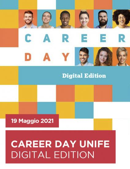 Banner Career Day Digital Edition Università degli Studi di Ferrara verticale